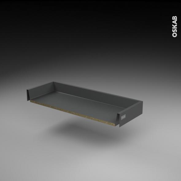 Tiroir coulissant - pour meuble de cuisine - Freiné/faible profondeur - L80 x H8 x P27 cm - SOKLEO