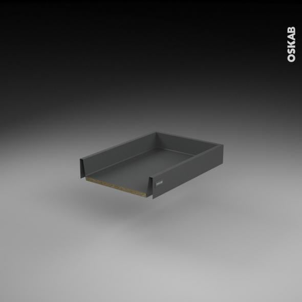 Tiroir coulissant - pour meuble de cuisine - Freiné/sortie totale - L40 x H8 x P50 cm - SOKLEO