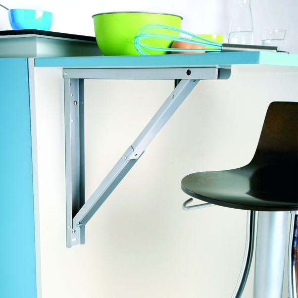 Support de table rabattable aluminium sokleo oskab for Table cuisine plan de travail