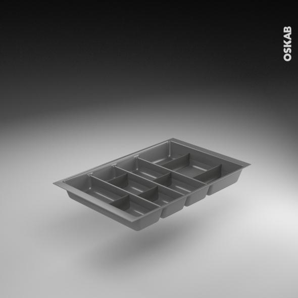 Range couverts tiroir l40 cm anthracite avec s parateurs modulable sokleo o - Range couvert modulable ...