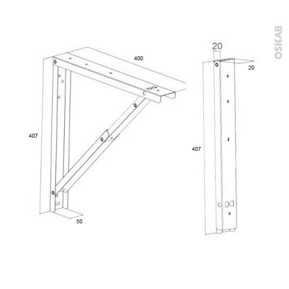 support de table rabattable aluminium sokleo oskab. Black Bedroom Furniture Sets. Home Design Ideas