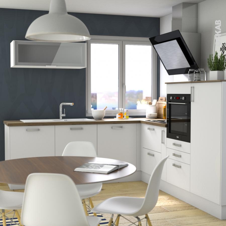 Ginko blanc kit r novation 18 meuble bas cuisine 1 porte l30xh70xp60 oskab - Kit renovation porte ...