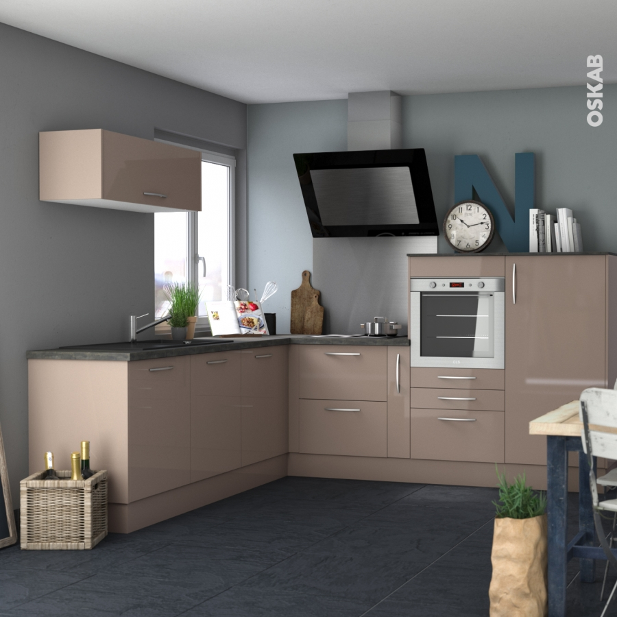 fa ades de cuisine 3 tiroirs n 74 keria moka l80 x h70 cm oskab. Black Bedroom Furniture Sets. Home Design Ideas