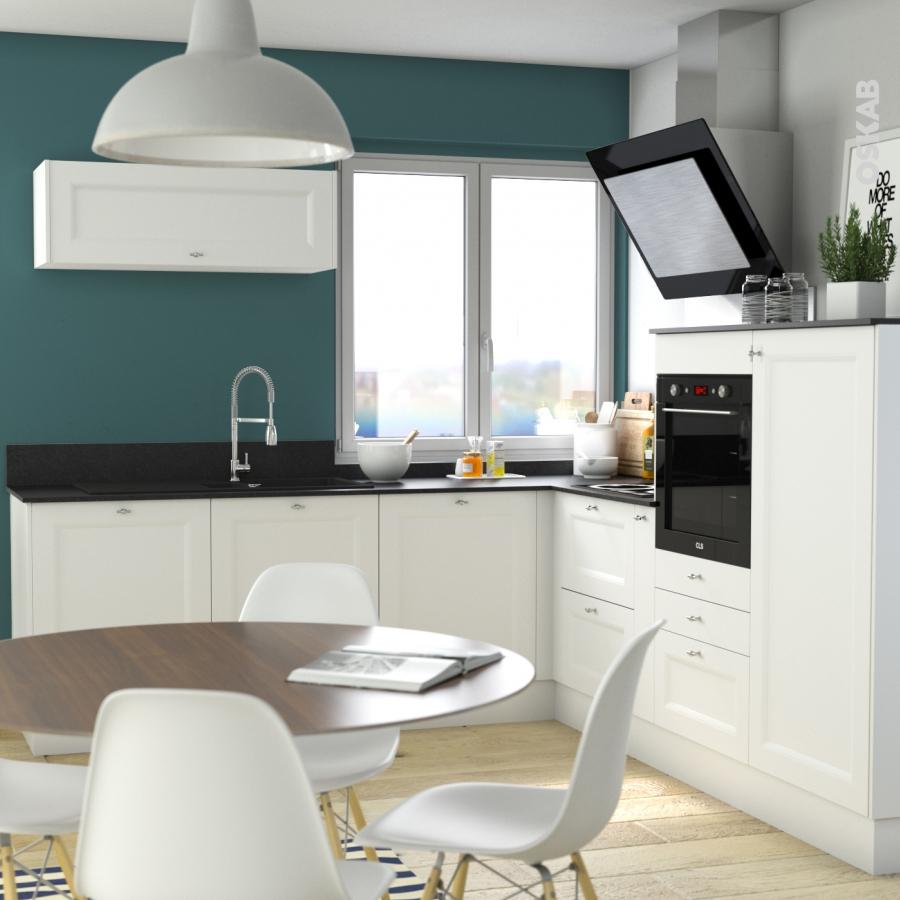 plinthe de cuisine static blanc avec joint d 39 tanch it l220xh15 4 oskab. Black Bedroom Furniture Sets. Home Design Ideas