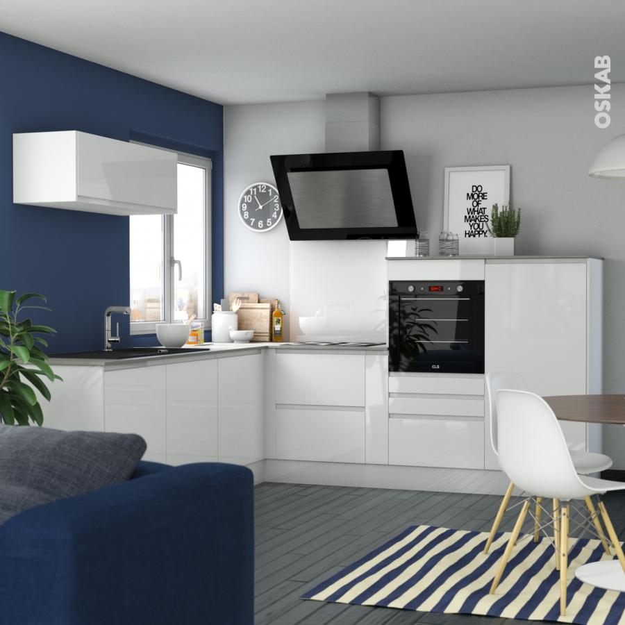 Fileur de finition pour cuisine ipoma blanc brillant oskab for Cuisine 3d oskab