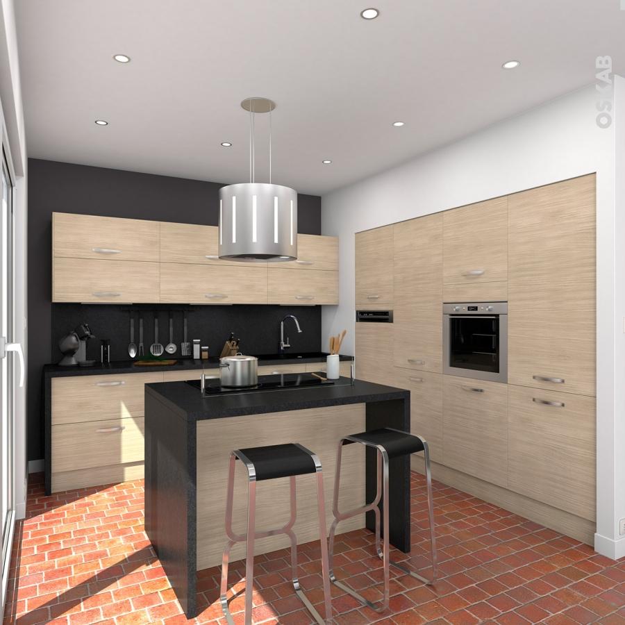 Plan de travail cuisine n 303 d cor granit noir stratifi - Jambage cuisine ...
