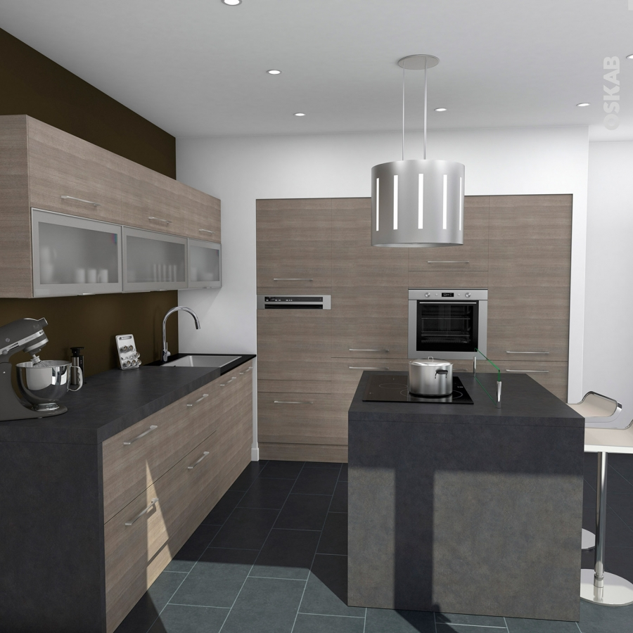 plinthe de cuisine stilo noyer naturel avec joint d 39 tanch it l220xh15 4 oskab. Black Bedroom Furniture Sets. Home Design Ideas