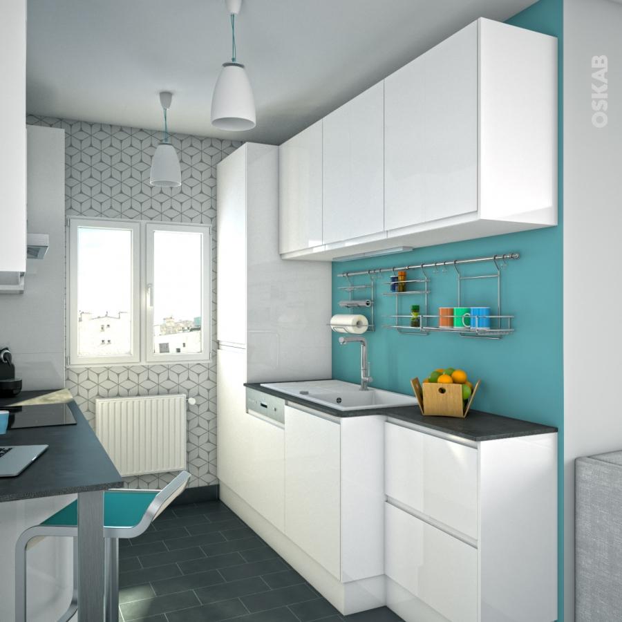 Ipoma blanc meuble haut ouvrant h92 1 porte l60xh92xp37 for Cuisine oskab