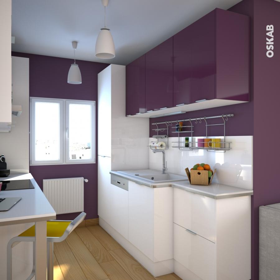 meuble de cuisine range pice epoxy keria aubergine 1 porte l30 x h70 x p58 cm oskab. Black Bedroom Furniture Sets. Home Design Ideas