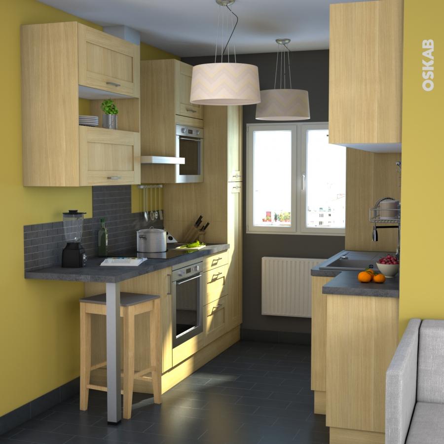 Basilit bois brut armoire rangement n 2326 4 paniers for Oskab cuisine 3d