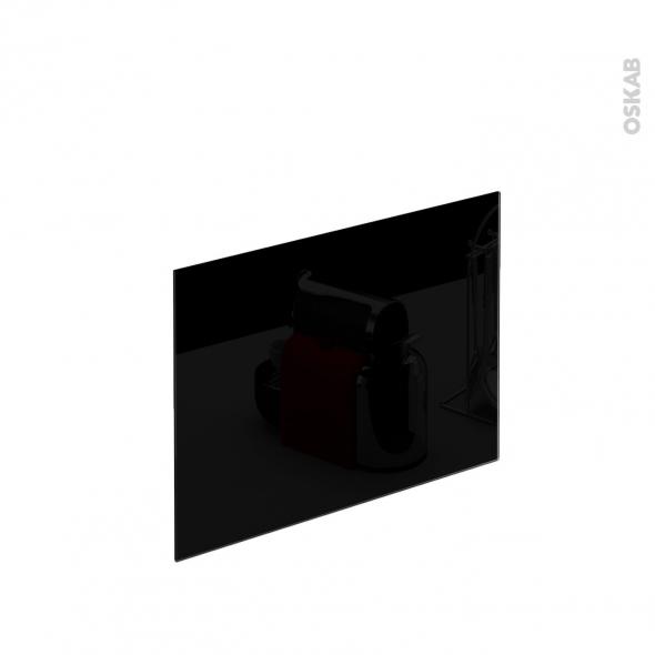 Cr dence n 601 verre noir l60xh45xe0 4 planeko oskab for Credence verre trempe noir