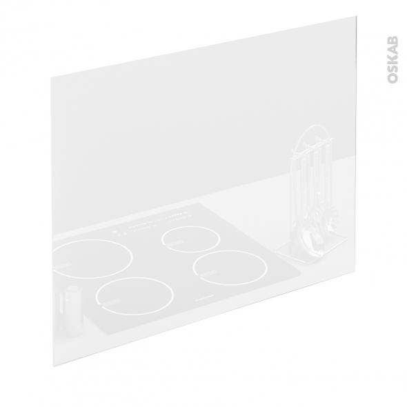 Fond de hotte verre blanc l90xh65xe0 4 planeko oskab - Fond de hotte en verre ...