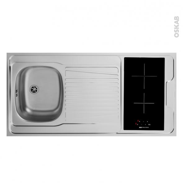 bloc vier pour kitchenette plaque de cuisson vitroc ramique 4 s curit s l120 x p60 cm sokleo. Black Bedroom Furniture Sets. Home Design Ideas