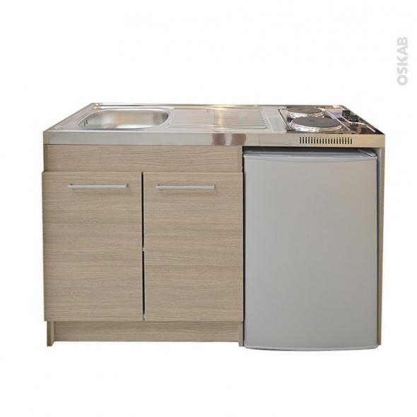 kitchenette d cor ch ne clair avec r frig rateur. Black Bedroom Furniture Sets. Home Design Ideas
