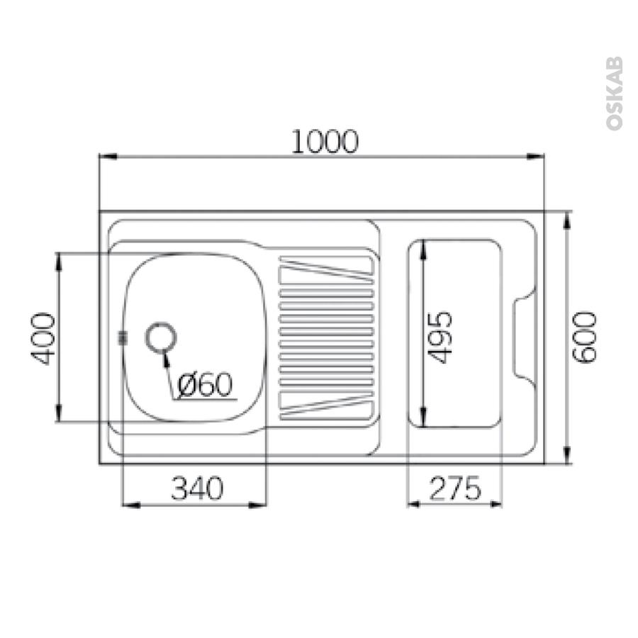 kitchenette vitroc ramique meuble sous vier blanc avec. Black Bedroom Furniture Sets. Home Design Ideas