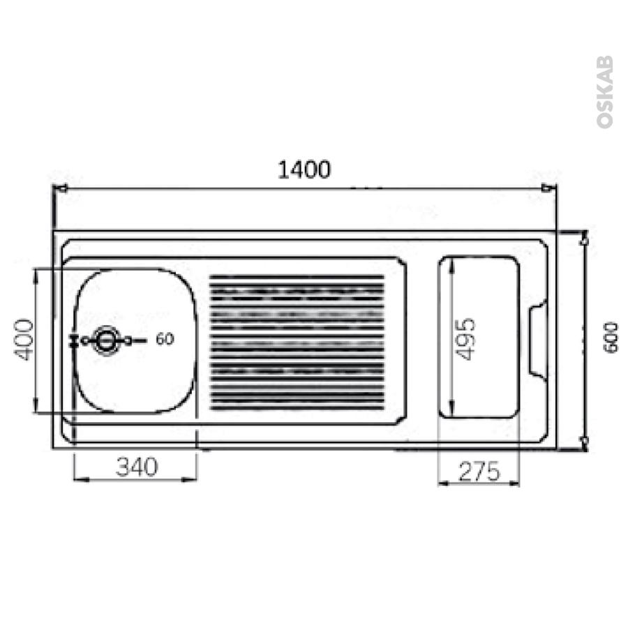 bloc vier pour kitchenette plaque de cuisson induction l140 x p60 cm sokleo oskab. Black Bedroom Furniture Sets. Home Design Ideas
