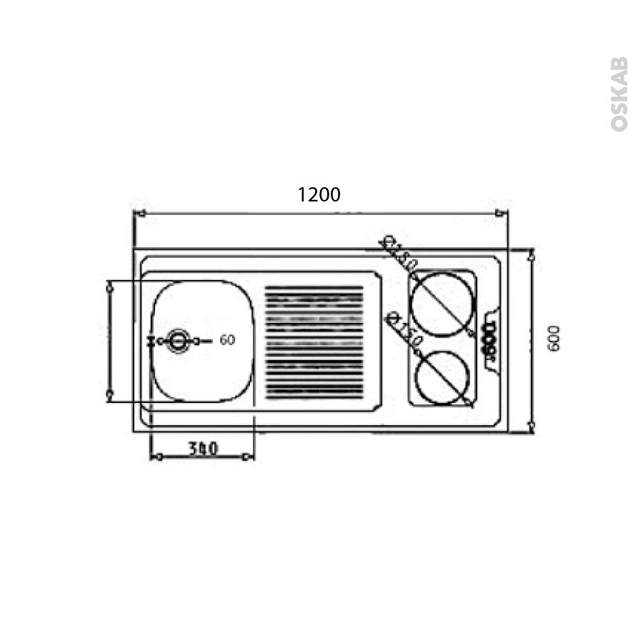 Bloc vier pour kitchenette plaque de cuisson lectrique for Plaque de cuisson pour kitchenette