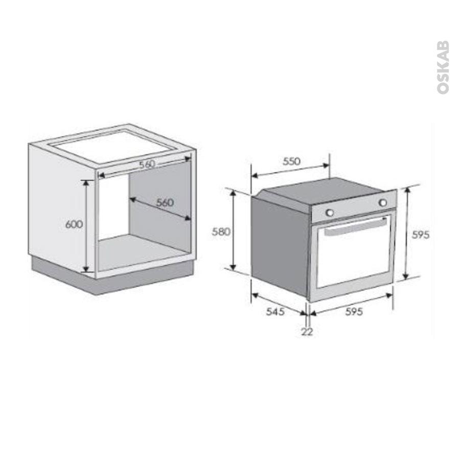 four encastrable pyrolyse multifonction 70l inox rosieres rfs59 oskab. Black Bedroom Furniture Sets. Home Design Ideas