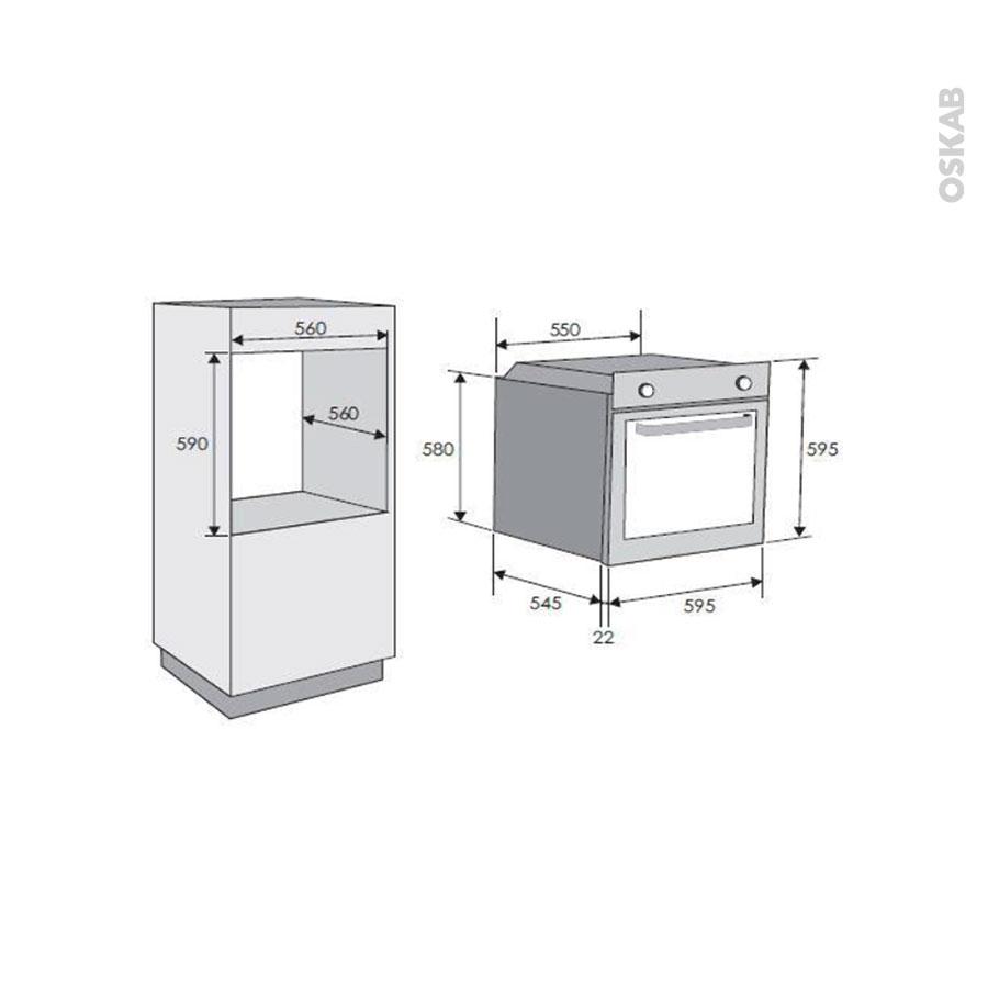 four encastrable catalyse multifonction 65l inox anti. Black Bedroom Furniture Sets. Home Design Ideas