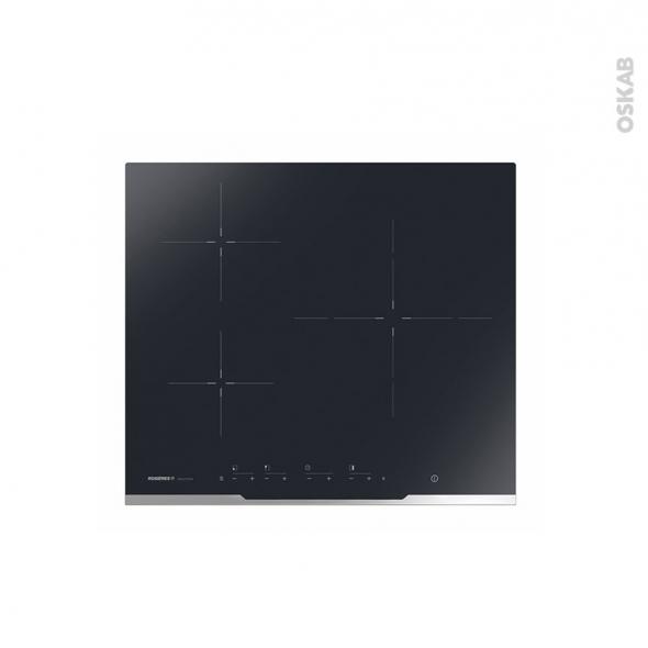 plaque de cuisson 3 feux induction 60 cm verre noir rosieres rez377 oskab. Black Bedroom Furniture Sets. Home Design Ideas