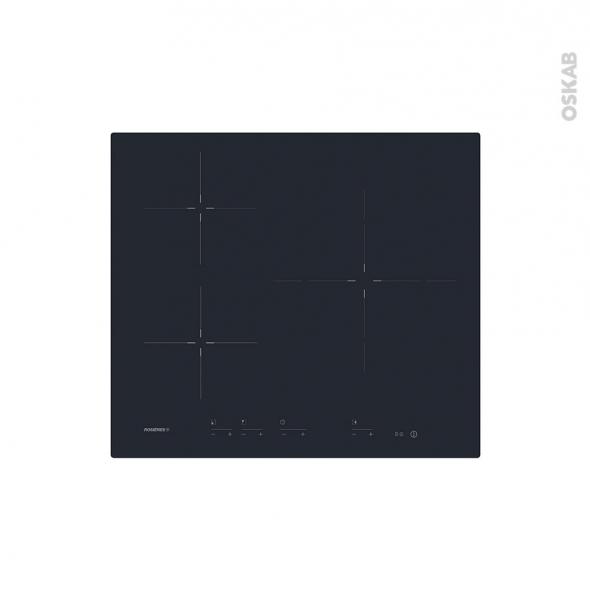 plaque induction 3 foyers verre noir rosieres rid633dc oskab. Black Bedroom Furniture Sets. Home Design Ideas