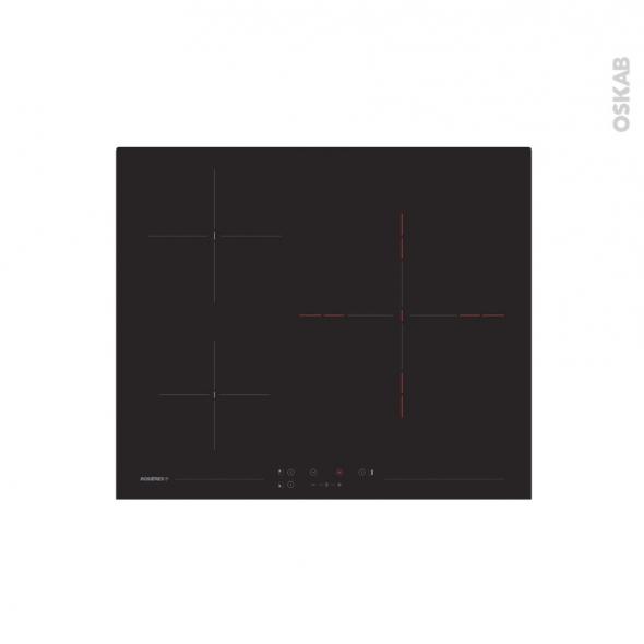 plaque vitro 3 foyers verre noir rosieres rkh63tct 1 oskab. Black Bedroom Furniture Sets. Home Design Ideas