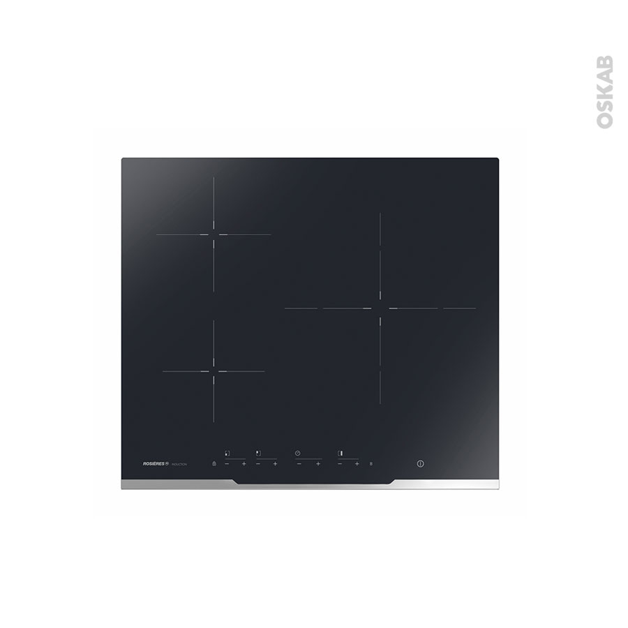 plaque de cuisson 3 feux induction 60 cm verre noir rosieres rez377 oskab. Black Bedroom Furniture Sets. Home Design Ideas