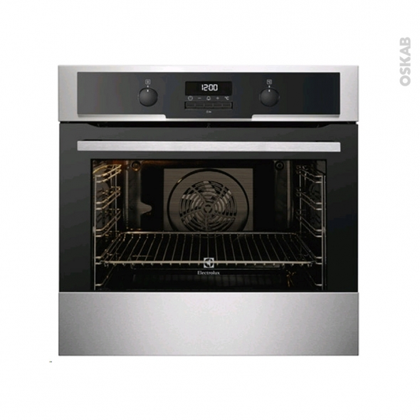 Four encastrable pyrolyse multifonction 72l inox anti trace electrolux eoc5641gax oskab - Four electrolux pyrolyse ...