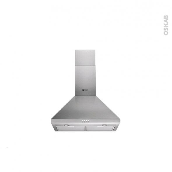 hotte de cuisine aspirante pyramide 60cm inox indesit ihpc. Black Bedroom Furniture Sets. Home Design Ideas