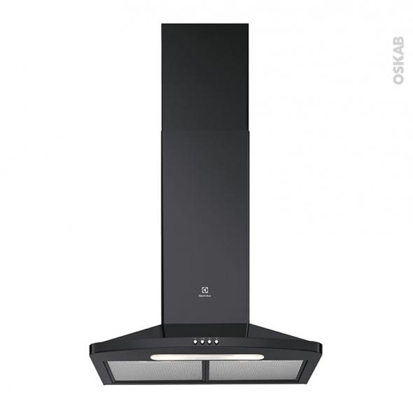 hotte de cuisine aspirante pyramide 60 cm noir electrolux efc316k oskab. Black Bedroom Furniture Sets. Home Design Ideas
