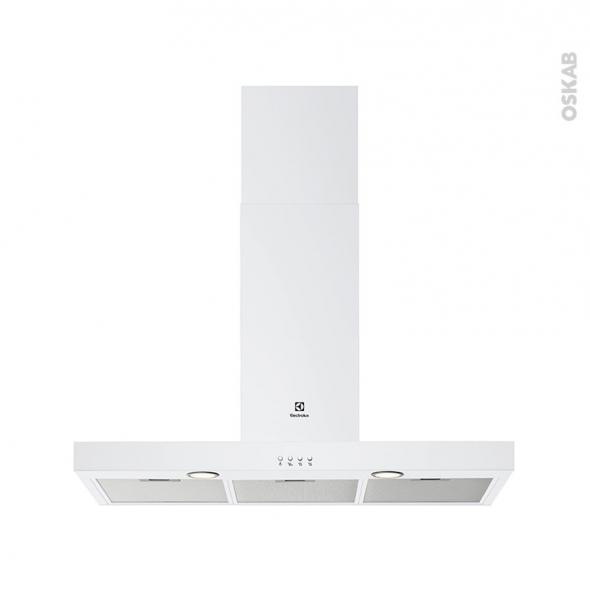 hotte de cuisine aspirante box 90 cm blanc electrolux lft419w oskab. Black Bedroom Furniture Sets. Home Design Ideas