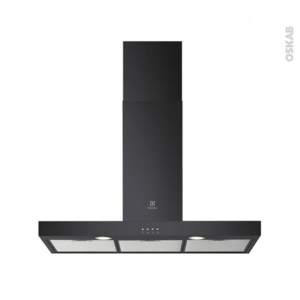 hotte de cuisine aspirante box 90 cm noir electrolux lft419k oskab. Black Bedroom Furniture Sets. Home Design Ideas