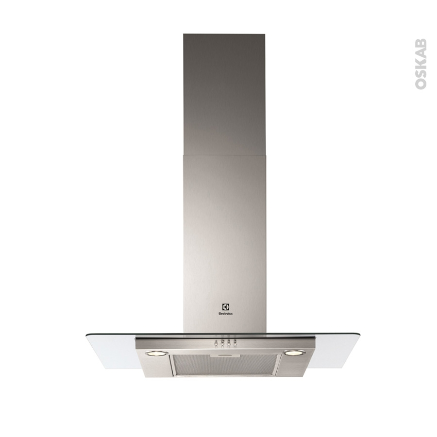 hotte de cuisine aspirante verre 90cm electrolux efc90466ox oskab. Black Bedroom Furniture Sets. Home Design Ideas