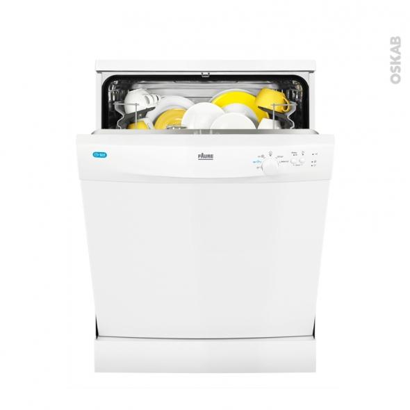 Lave vaisselle 13 couverts pose libre 60 cm blanc faure for Mon lave vaisselle fuit