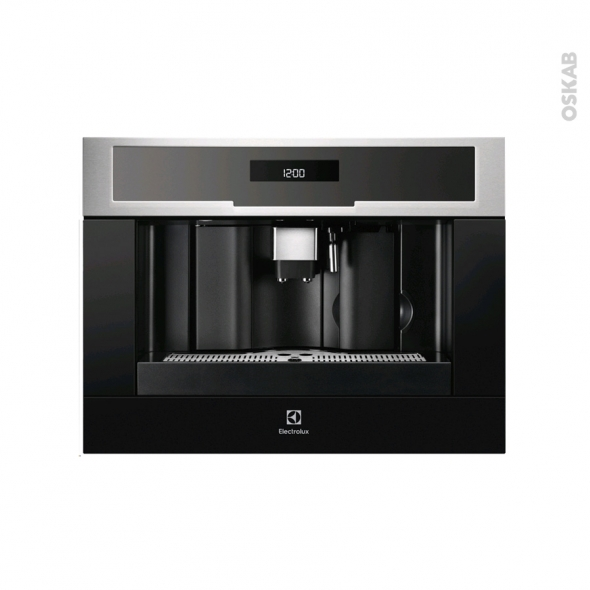 machine caf encastrable 45cm inox anti trace electrolux. Black Bedroom Furniture Sets. Home Design Ideas