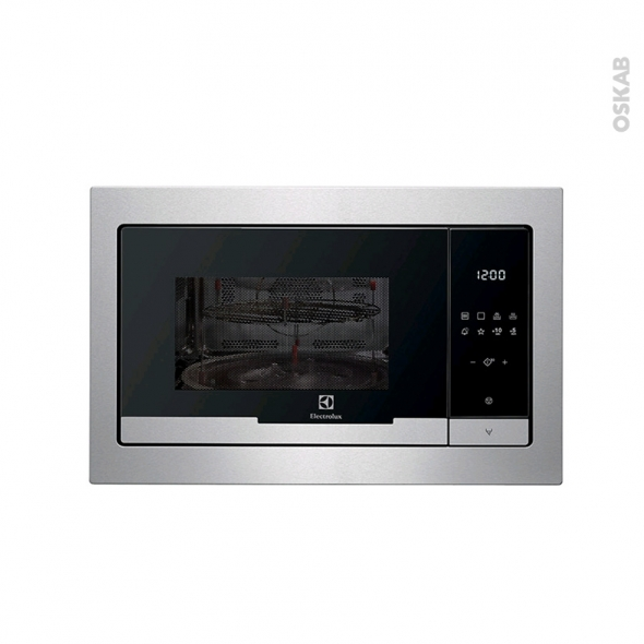micro ondes 25l int grable 38cm inox electrolux emt25207ox oskab. Black Bedroom Furniture Sets. Home Design Ideas