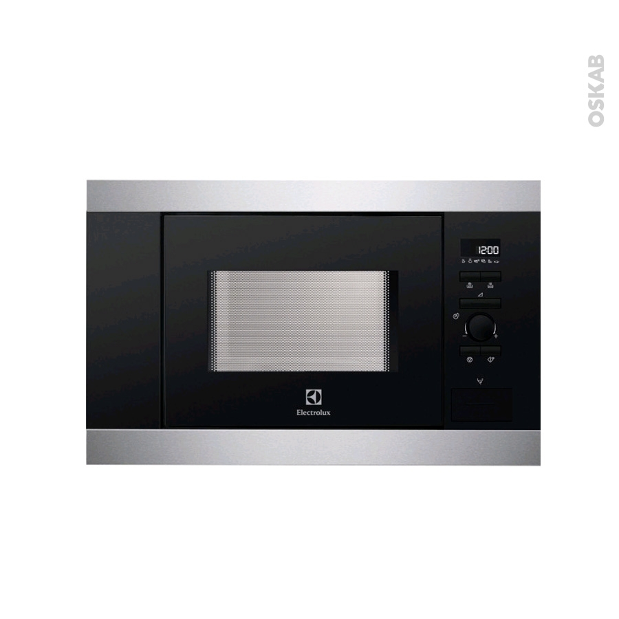 micro ondes int grable 36cm 17l inox anti trace electrolux ems17006ox oskab. Black Bedroom Furniture Sets. Home Design Ideas