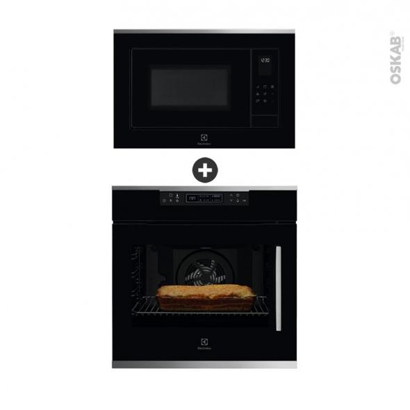 pack design assorti electrom nager encastrable noir et. Black Bedroom Furniture Sets. Home Design Ideas