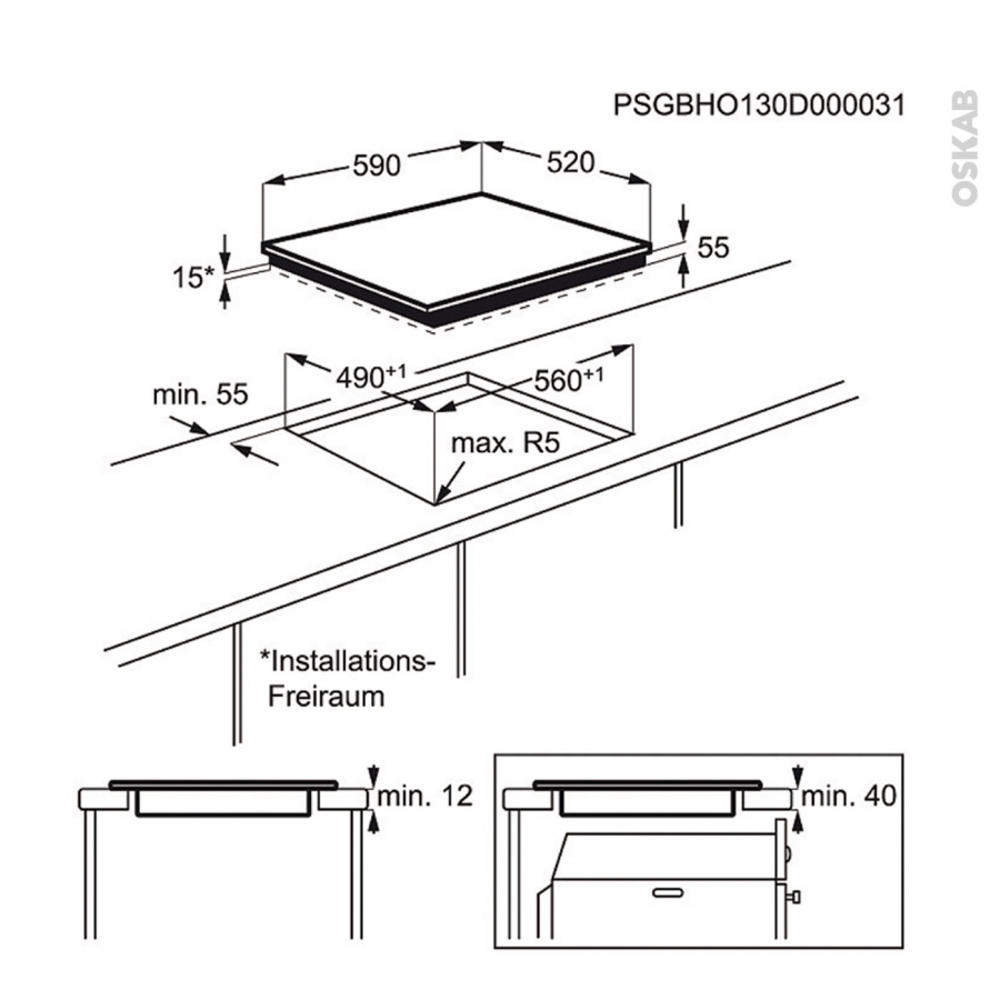 plaque de cuisson 3 feux induction 60 cm verre silver electrolux ehm6532ios oskab. Black Bedroom Furniture Sets. Home Design Ideas