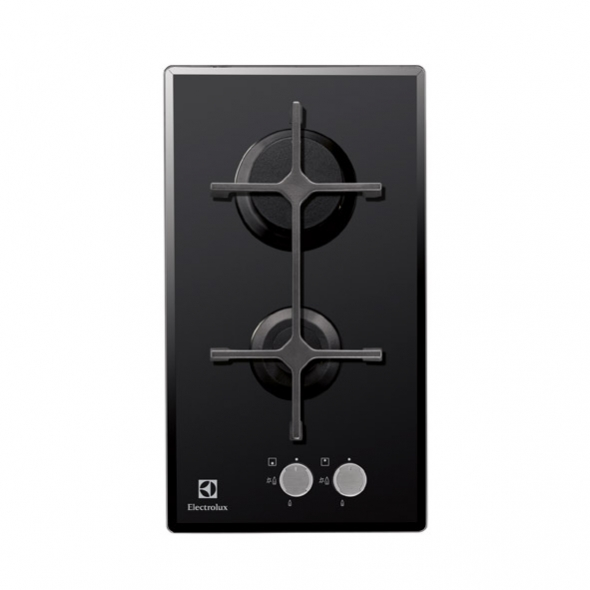 Domino gaz 2 foyers verre noir electrolux egc3322nok oskab for Domino de cuisson gaz