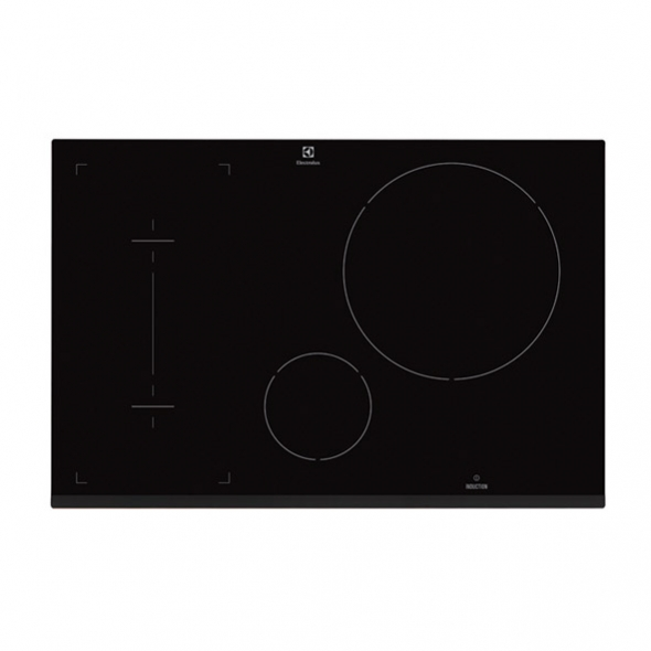 plaque induction 4 foyers verre noir electrolux ehi8742fok oskab. Black Bedroom Furniture Sets. Home Design Ideas