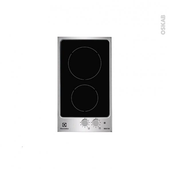 plaque de cuisson 2 feux induction 29 cm verre noir et. Black Bedroom Furniture Sets. Home Design Ideas