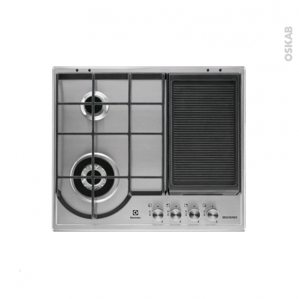 plaque de cuisson 4 feux gaz 60 cm inox electrolux. Black Bedroom Furniture Sets. Home Design Ideas