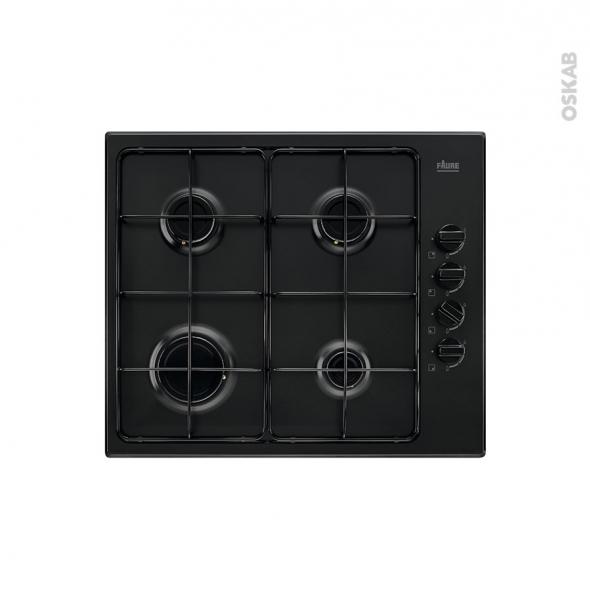 plaque de cuisson 4 feux gaz 60 cm noir faure fgh62414ba oskab. Black Bedroom Furniture Sets. Home Design Ideas