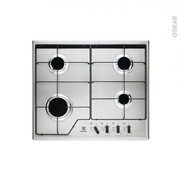 plaque de cuisson 4 feux gaz 60 cm email inox electrolux. Black Bedroom Furniture Sets. Home Design Ideas