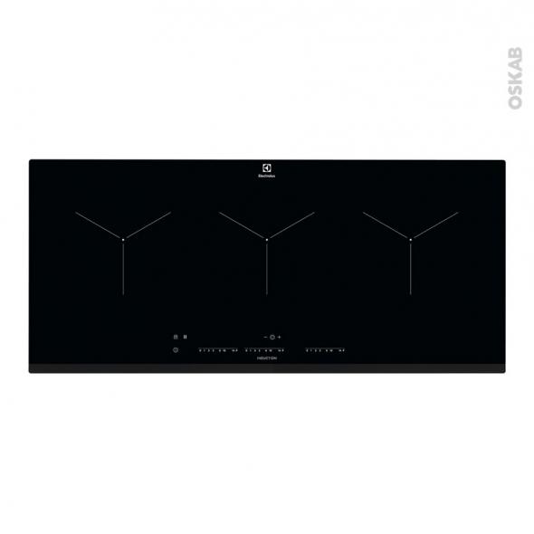 plaque de cuisson 3 feux induction 90 cm verre noir. Black Bedroom Furniture Sets. Home Design Ideas
