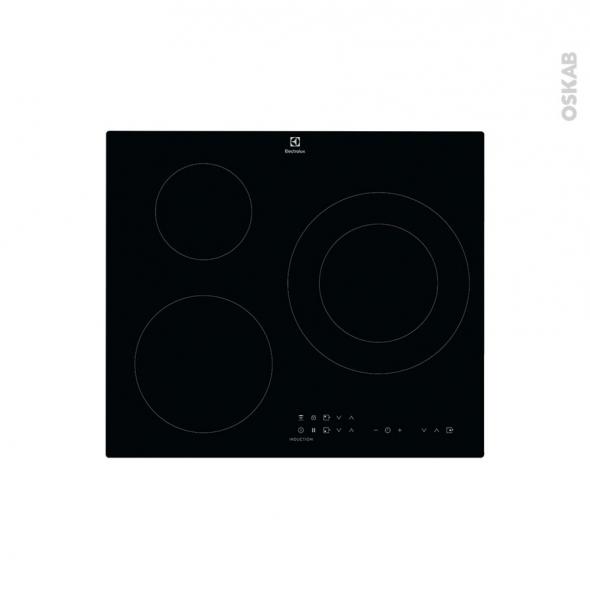 plaque de cuisson 3 feux induction 60 cm verre noir electrolux lit60336ck oskab. Black Bedroom Furniture Sets. Home Design Ideas