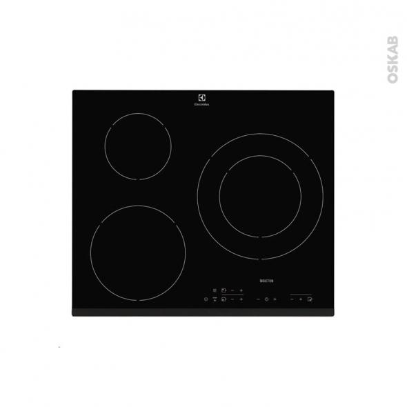plaque de cuisson 3 feux induction 60 cm verre noir. Black Bedroom Furniture Sets. Home Design Ideas