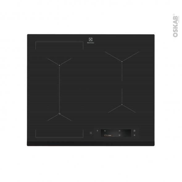 plaque de cuisson 4 feux induction 60cm verre noir. Black Bedroom Furniture Sets. Home Design Ideas