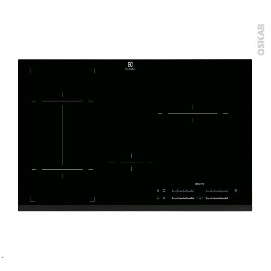 plaque de cuisson 4 feux induction 80 cm verre noir electrolux ehi8544fhk oskab. Black Bedroom Furniture Sets. Home Design Ideas